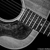 Ms. Gibson (dmcbee1) Tags: negative space strings wood texture wear gibson acoustic sixstring vintage contrast lines music bnw square nikon 135mm instrument blackandwhite old 1960s rhythm curve beauty bw nik