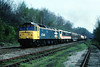 """Got some gen, but only had limited time to get in position....fortunatly I managed it as you can see....not everyday a sparkie graces """"the Park"""" !......Diverted 6F86 47449/90022 Willsden-Warrington Arpley SLK Sutton Park stn 12-08-94 (the.chair) Tags: diverted 6f86 4744990022 wiilsdenwarrington arpley sutton park stn aug 1990"""