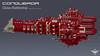 Conqueror Class Battleship (CK-MCMLXXXI) Tags: lego moc spaceship battleship warhammer 40000 mechanicum navi battlefleet gothic ldd digital render povray