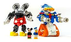 Mecha Mouse & Ducktank (Baron Julius von Brunk) Tags: lego disney mecha mech gundam mickeymouse donaldduck brunk juliusvonbrunk