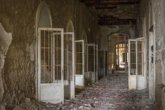 Wide open (Camera_Shy.) Tags: asylum doors rotten old hospital italia abandoned ospedale mental insane derelict disused abandonado urban exploration italy road trip ue decay decayed tresspassing nikon d810