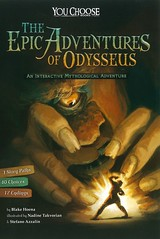 The Epic Adventures of Odysseus:  an Interactive Mythological Adventure (Vernon Barford School Library) Tags: blakehoena blake hoena nadinetakvorian nadine takvorian plotyourownstory youchoose chooseyourownadventure interactiveadventure vernon barford library libraries new recent book books read reading reads junior high middle vernonbarford fiction fictional novel novels paperback paperbacks softcover softcovers covers cover bookcover bookcovers greekmythology greek mythology myths heroes 9781491481196 odysseus kingofithaca interactiveadventures