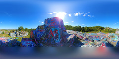 On top of the world and close to Heaven. (brooksbos) Tags: art artwork public quincy massachusetts newengland skyline boston brooksbos brooks color colour colours colorful geotagged landscape 360 panorama equirectangular lg lgg6 g6 smartphone summer sky son family memorial love