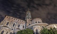 Basílica de San Sernín (GC - Photography) Tags: basilica toulouse france francia nocturna night nubes clouds largaexposicion longexposure gcphotography nikon d500 tokinaaf1116f28