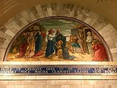 83 - Mozaikfreskó Lázár templomában - Betánia / Freska v Kostole sv. Lazara - Betánia
