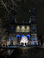 Notre Dame by night (Maine Islander) Tags: montreal notredame cathedral architecture christmas night