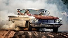 1960 Olds Super 88 (Subdive) Tags: burnout car hälla sweden västeråssummermeet2017 oldsmobile blower