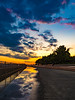 Sunset park (dayonkaede) Tags: park settingsun reflection puddle sunset olympus em1markii m1240mm f28