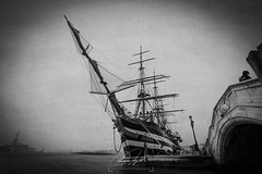 Amerigo Vespucci (Explored) (www.christopherfitzgerald.ie) Tags: tall ship venice boat water pirates
