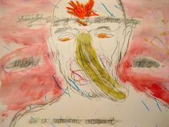 Clear But Not Of A Pattern (giveawayboy) Tags: pencil crayon drawing art acrylic paint painting fch tampa artist giveawayboy billrogers ralafferty raphaelaloysiuslafferty lafferty archipelago finnegan banana nose