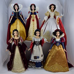 Six of the Fairest - Snow White Limited Edition 17 Inch Dolls (drj1828) Tags: disney disneystore disneyparks shanghai 2009 2016 2017 limitededition doll collectible 17inch groupphoto snowwhite princess snowwhiteandthesevendwarfs rags wishing platinum saksfifthavenue