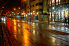 Slick & Empty (wabisabi2015) Tags: uiuc universityofillinois champaign greenstreet rain click wet colorful light illumination ghosttown vacant empty students thanksgiving break recess fall exodus collegetown urbanoutfitters street sixth