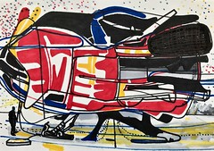 Jim Harris: Maintenance - Haydn Long Range Escort. (Jim Harris: Artist.) Tags: art arte lartabstrait space contemporary contemporaryart contemporânea cosmos contemporanea dessin drawing abstract abstractart abstrakt technik