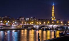 City of lights (spraggsc) Tags: paris long exposure city eiffel tower bridge river seine nightscape cityscape