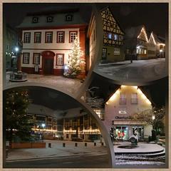 Lauda-Königshofen mit weihnachtlicher Beleuchtung