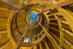 All around (alxfink) Tags: architecture wood stairs staircase lookingup up leipzig hotel lumix