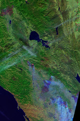 Landsat image of wildfires (in progress) in Sonoma, Napa, and Mendocino Counties, California (cocoi_m) Tags: landsat satellite image forestfire sonomacounty napacounty mendocinocounty california landsat8 nature geology geomorphology wildfire