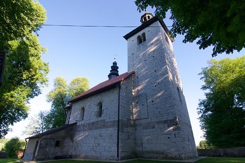 Kościół św. Mikołaja w Wysocicach od północnego zachodu