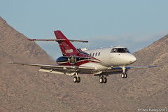 Hawker 800XP - N356SR (Pasley Aviation Photography) Tags: hawker 800 800xp bae business jet corporate privileged landing mountains scottsdale airport arizona phoenix twilight evening golden hour airplane aviation flight wings glossy n365sr photography canon 60d model grace beauty vintage classic
