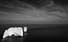 Harry's Single Rock (www.davidrosenphotography.com) Tags: dorset oldharrysrocks seascape sea coast england blackandwhite bw travel