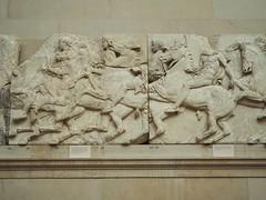 102517London-40 (djfnola) Tags: davidfischer olympus em10 mzuiko1240mm28pro britishmuseum elginmarbles greek parthenon marble sculpture basrelief frieze horsemen riders southfrieze frise