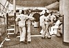 Sailors aboard the USS OLYMPIA waltzing at tiffin time 1899 (SSAVE w/ over 9 MILLION views THX) Tags: spanishamericanwar