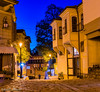 """Crepuscular Glow"" - Old Town Plovdiv, Bulgaria. (Khalid H Abbasi) Tags: chetvartiyanuaristreet oldtownplovdiv bulgaria plovdiv evening cobblestreet streetlight nikon tamron d5500 nikond5500 tamronaf18270mmf3563diiivcpzdb008n longexposure balconies blue yellow travelphotography"