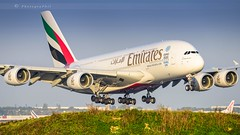 EMIRATES A380-861 (lavierphilippephotographie) Tags: airlines airliners cdg roissy a380 airbus airbusindustries emirates longcourrier superheavy