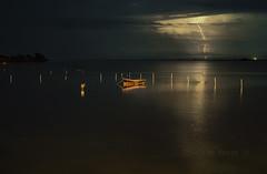 la tormenta (Josep M.Toset) Tags: aigua barca catalunya d800 deltadelebre montsià josepmtoset matinada mar marina mediterrani núvols tempesta llamp paisatges pesca nikon