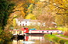 Serenity ....... (acwills2014) Tags: breconandmonmouthshirecanal canal towpath walk autumn wales serenity autumnal trees tranquility whitecottages colour boats barges narrowboats