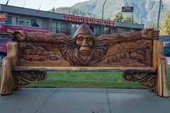 DSC_7979 (Copy) (pandjt) Tags: hope hopebc britishcolumbia sasquatch bigfoot carving carvings chainsawcarving sculpture publicart artwalk hopeartwalk woodcarving artwork