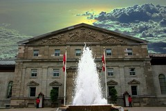 Ottawa Ontario - Canada - Rideau Hall - Residence of Governor General (Onasill ~ Bill Badzo) Tags: onasill ottawa ont ontario canada rideau residence heritage historic government house general hall monarch canadian governor 1 sussex drive capitol mansion pediment changing guard red uniform soldiers attractionsite tours travel tourist crown guided fountain water