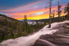 Eagle Falls (Mike Ver Sprill - Milky Way Mike) Tags: eagle falls sunrise lake tahoe emerald bay landscape nature trees tree water fall beautiful travel california nevada south fire sky sunset gorgeous colorful vibrant