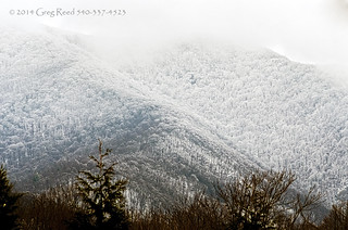 Blue Ridge Mountains in the Snow