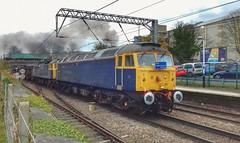 Dirty Diesels (R.K.C. Photography) Tags: royston class 47 smoke diesel locomotive loco train hertfordshire england uk unitedkingdom