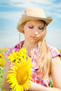 Beautiful woman (Kseniya Polonskaya) Tags: beautiful blondy woman fashion flowers summer smile caucasian countryside cowboy cowgirl farm female field free girl healthy leisure lifestyle meadow outdoors people cowboyhat relaxation rest rural sensual sexy sunflowers sunlight village west white wild yellow face portrait beauty nature natural hair wealthy femininity happy young youth hat summertime