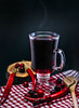 Cranberry And Chilly Hot Drink (wuestenigel) Tags: wood glass smoke berries pepper beverage table healthy hot closeup delicious macro spicy chilly cafe cloth spoon cup wooden antioxidant tea light liquide cranberries drink nutrition red studio set dark plate drinking spice decor nature style food christmas