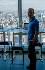 Stand-up desk with a view (Lars Plougmann) Tags: view office worldtradecenter desk nyc newyorkcity laptop newyork cityscape work tower city hdr dscf4324