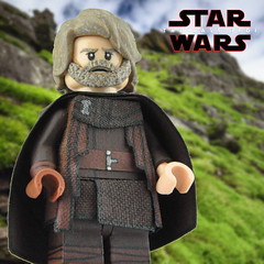 It's time for the Jedi to end. (Brick Builder Watts) Tags: lego star wars the last jedi custom painted minifigures luke skywalker mark hamill