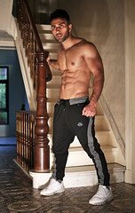 IMG_8626h (Defever Photography) Tags: male model fitness 6pack afghanistan chest fit stairs interior sports