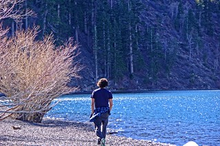 Brother walking Convict Lake