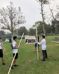 007 Figuring Out The Finish Banner (saschmitz_earthlink_net) Tags: 2017 california longbeach eldorado orienteering laoc losangelesorienteeringclub losangeles losangelescounty eldoradoeastregionalpark park parks