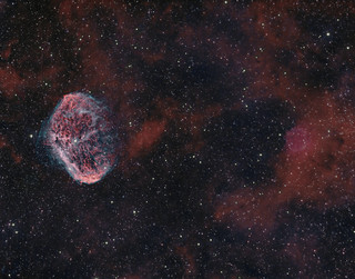 NGC6888 The Crescent Nebula bicolour
