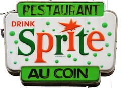 Restaurant Au Coin - Drink Sprite (Will S.) Tags: sainteugène mypics ontario canada sign sprite restaurant