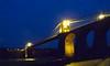 6188 Pont Grog y Borth. (Andy - Busyyyyyyyyy) Tags: bbb bluehour bridge ccc cymru lights menaibridge menaistraits menaisuspensionbridge mmm nightshot nnn northwales pontgrogyborth sss wales www