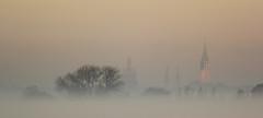 View on Delft (merijnloeve) Tags: view delft oude leede mist misty morning ochtend sunlight zonsopkomst delfland lansingerland kerk nieuwe jan kerken silhouet