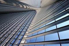 under canvas (Fotoristin - blick.kontakt) Tags: architecture calatrava lines abstract sky blue station belgium liége liègeguillemins undercanvas fotoristin
