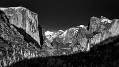 Yosemite Valley BW2 (danngrider) Tags: yosemite yosemitenationalpark mercedriver halfdome elcapitan bridalveilfalls yosemitefalls yosemitevalley