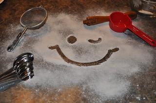 flour-ery smiley