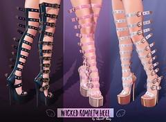 Wicked Royalty Heel by Sweet Thing. (Update!) (Sweet Thing.) Tags: sl secondlife sweetthing romp kink kinky leather latex heels dress fashion maitreya belleza